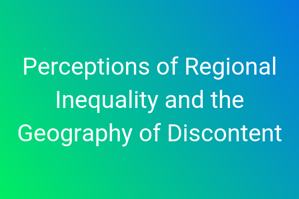 Perceptions of Regional Inequality