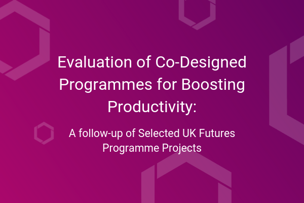 Evaluation of Co-designed Programmes for Boosting Productivity