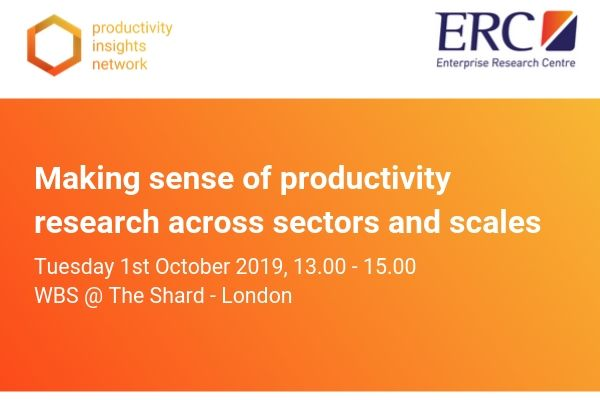 Workshop: Making sense of productivity research across sectors and scales