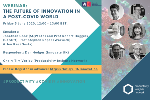 'The future of innovation in a post-Covid world' Webinar: Friday 5 June 2020, 12:00 – 13:00 BST