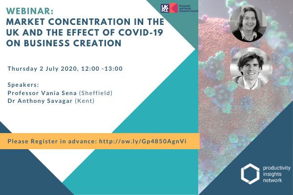 Market Concentration in the UK and the effect of COVID-19 on Business Creation. Thursday 2 July, 12:00 – 13:00