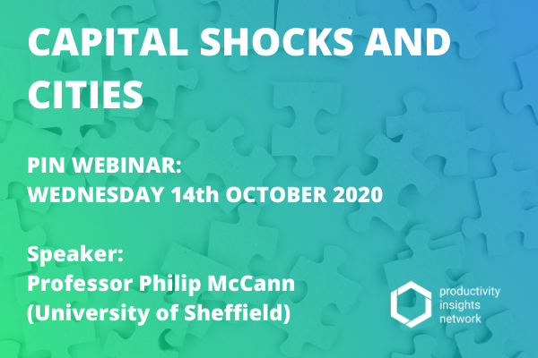 Capital Shocks and Cities, Wednesday 14 October 2020, 12:00 – 13:00