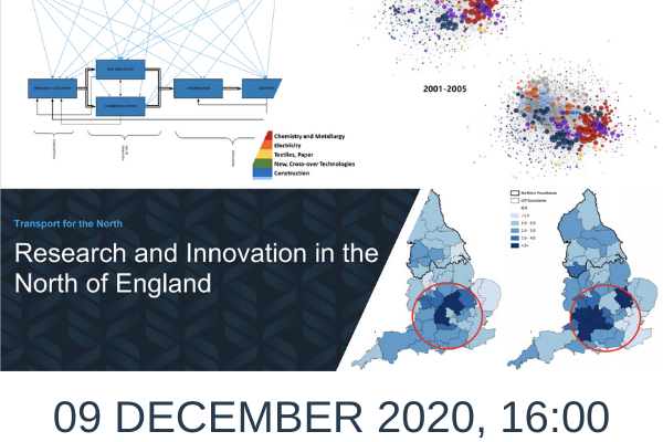 Research and Innovation in the North of England, Wednesday 9 December, 16:00 – 17:30